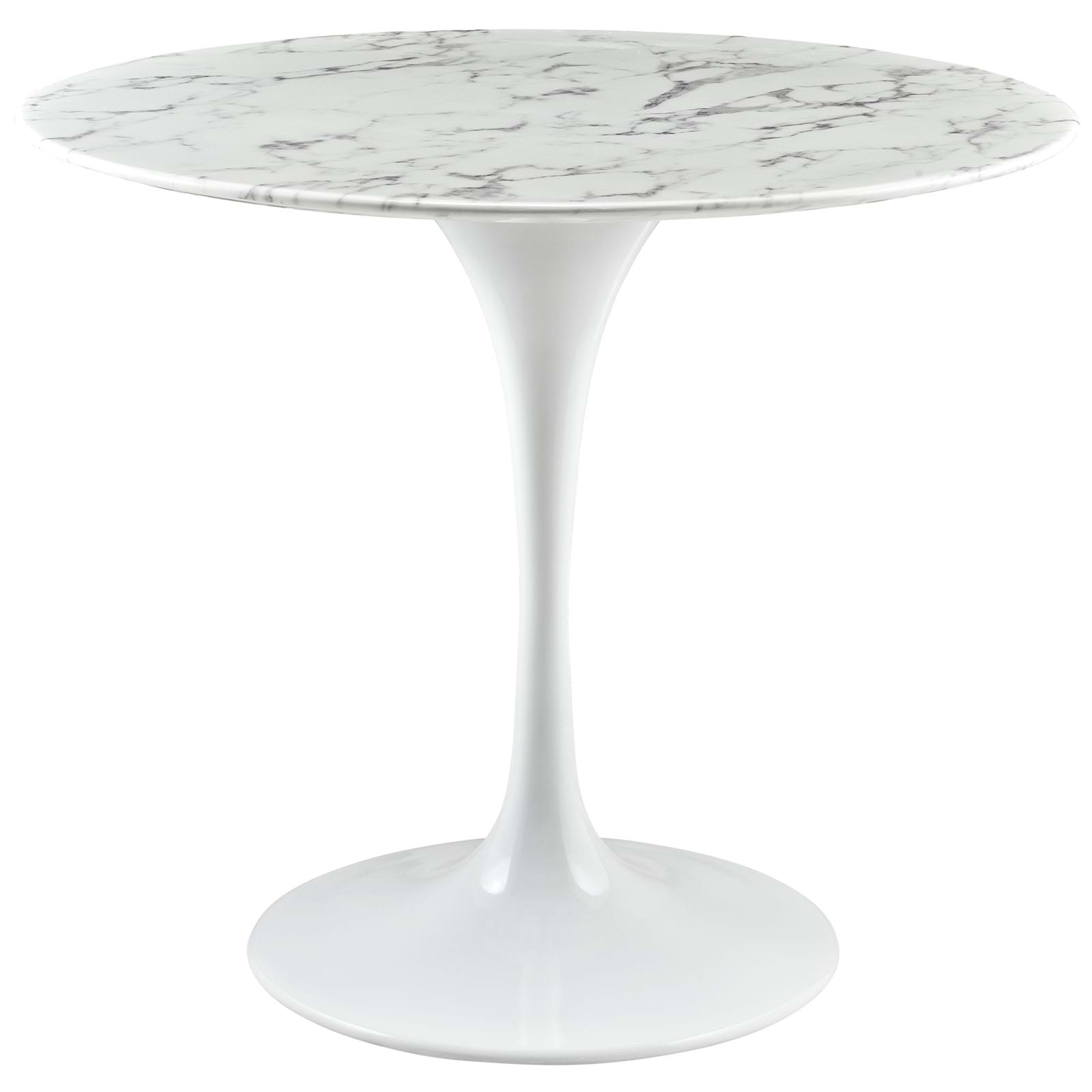 """Lippa 36"""" Artificial Marble Dining Table"""