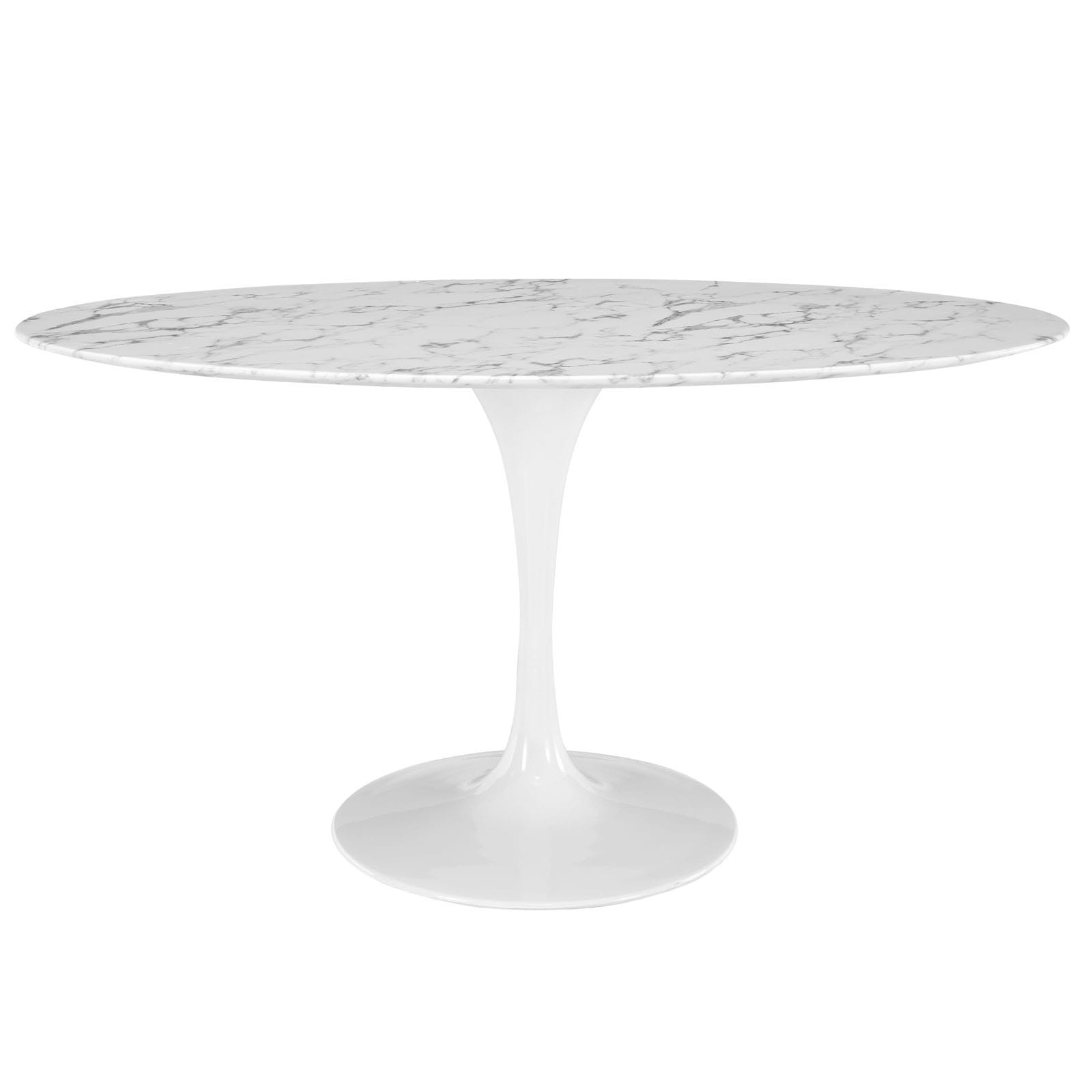 "Lippa 60"" Oval Marble Dining Table"