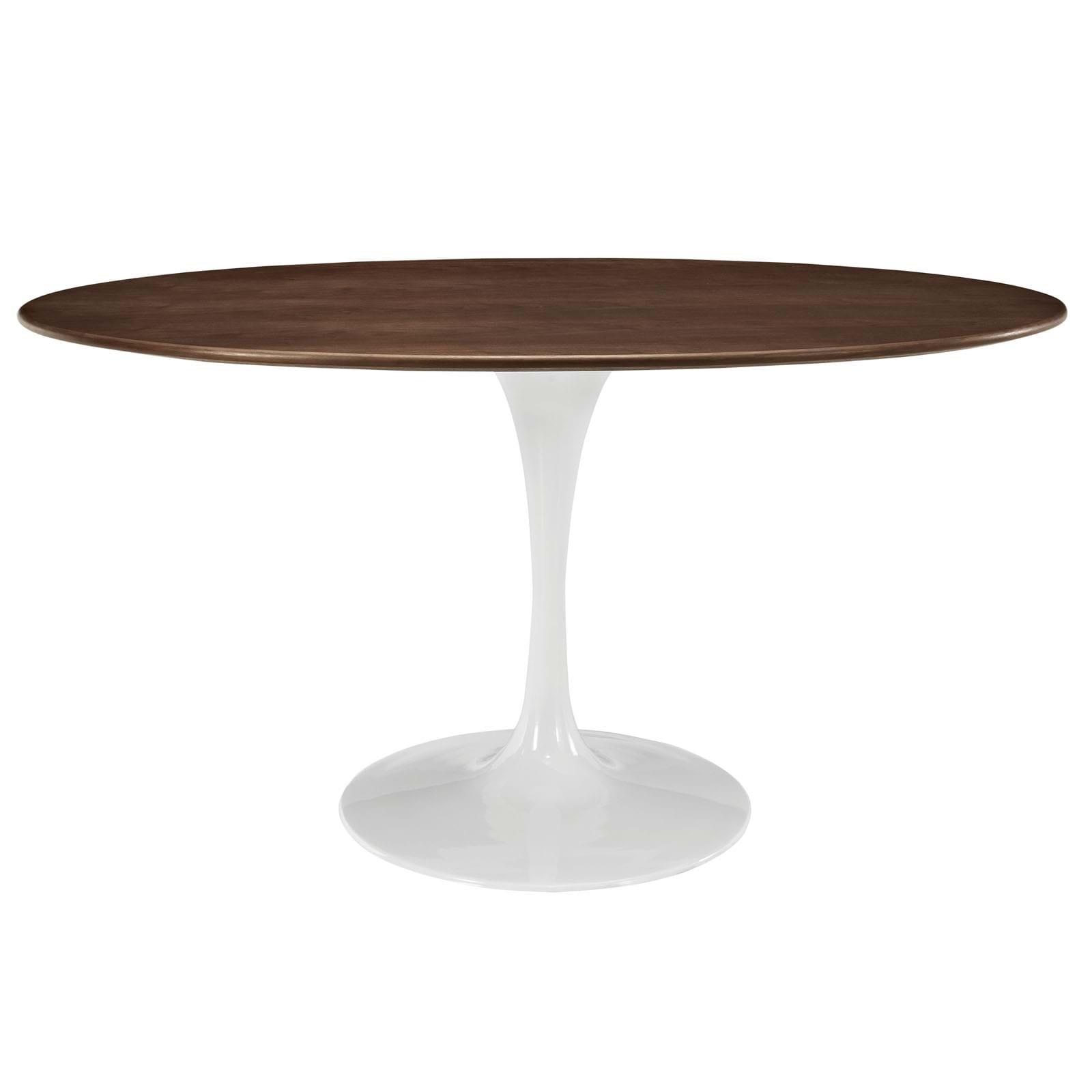"Lippa 60"" Oval-Shaped Walnut Dining Table"