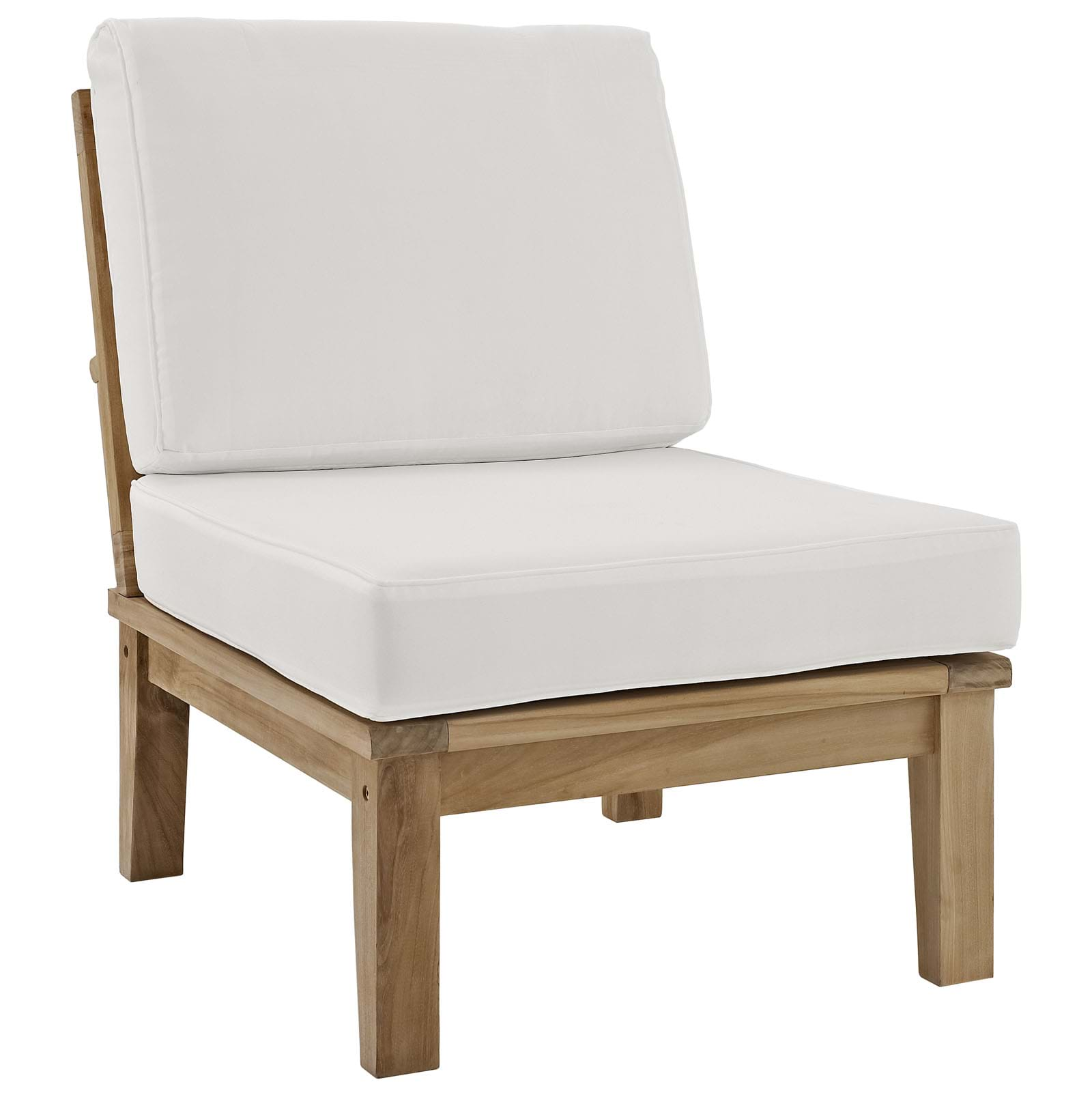 Marina Armless Outdoor Patio Teak Sofa