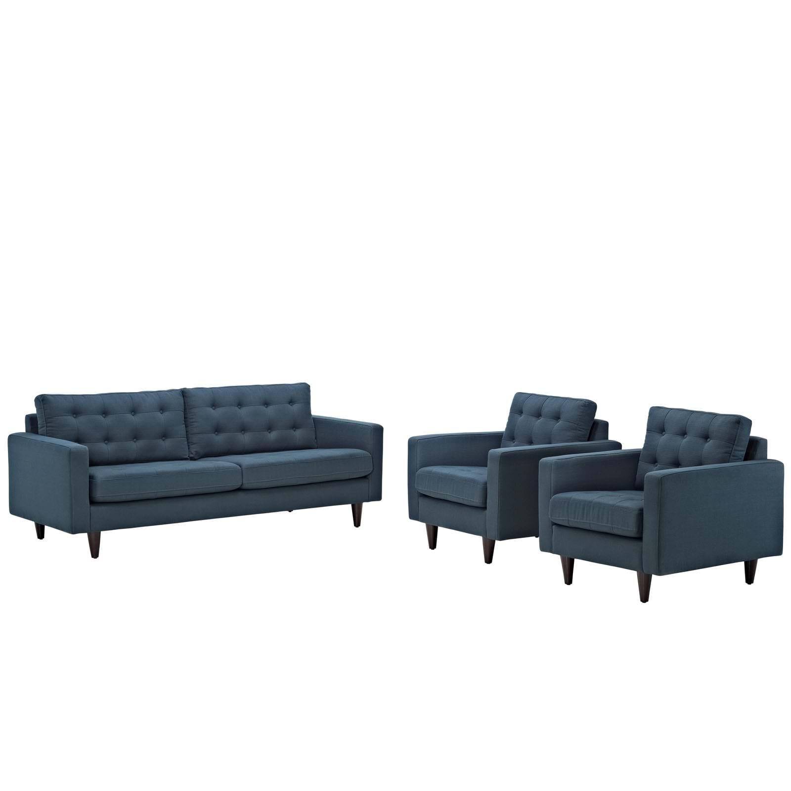 Empress 3 Piece Sofa and Armchairs Set