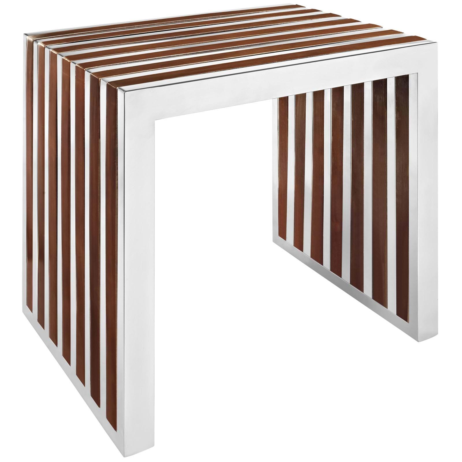 Gridiron Small Wood Inlay Bench