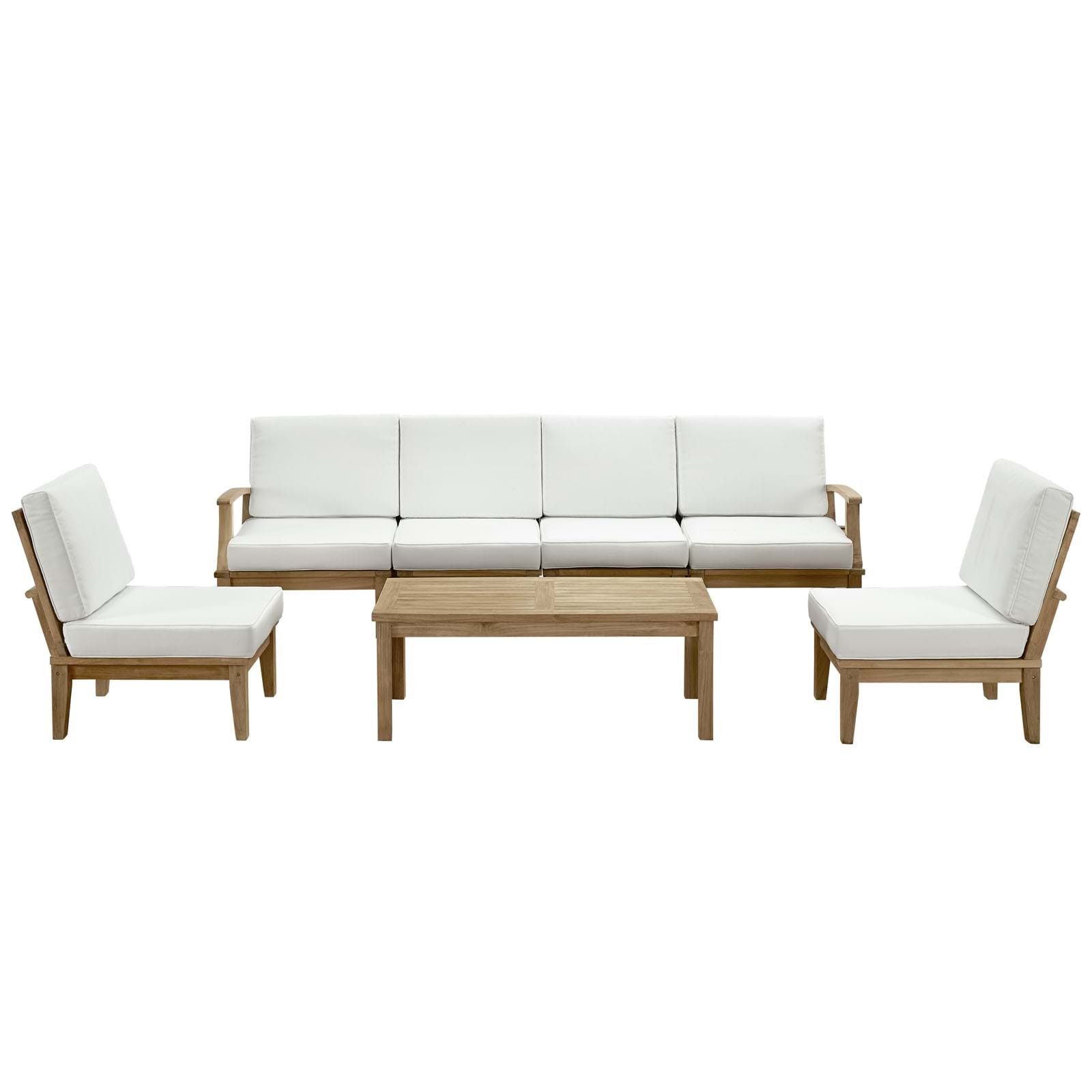 Marina 7 Piece Outdoor Patio Teak Sofa Set
