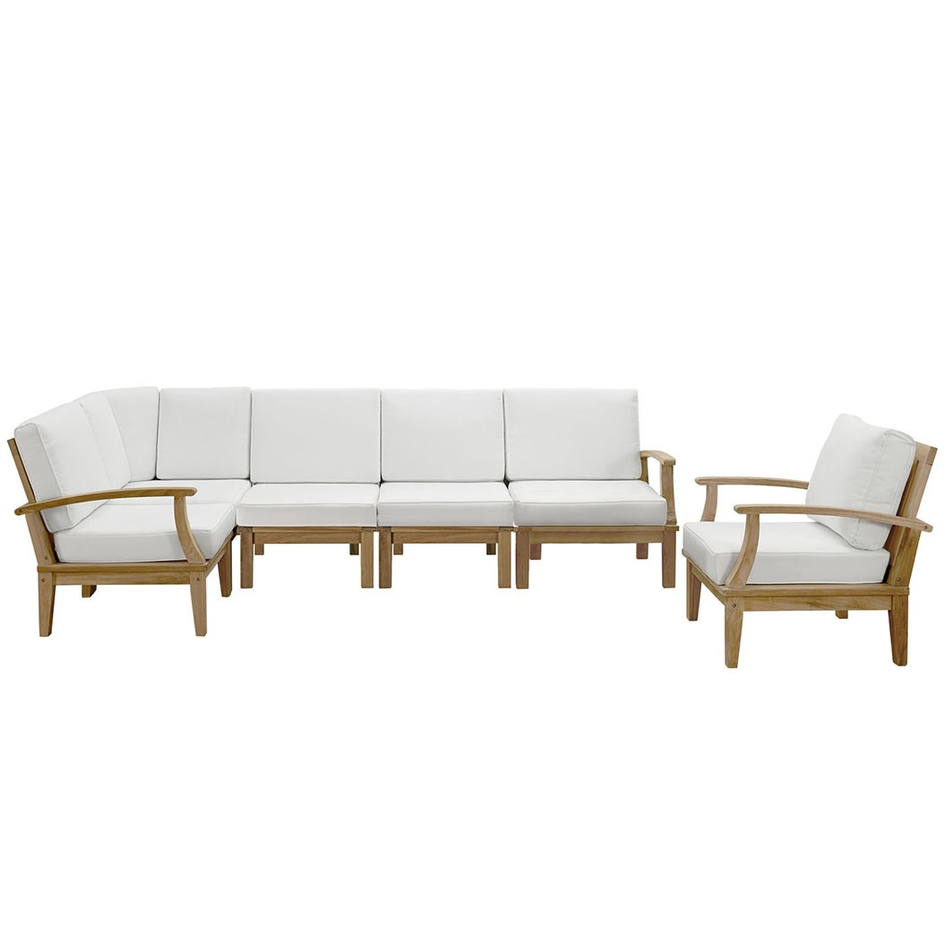 Marina 6 Piece Outdoor Patio Teak Sofa Set