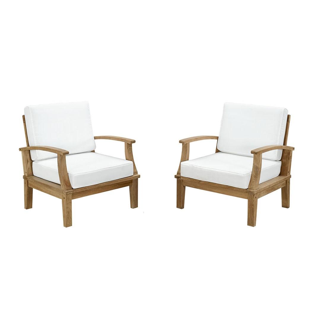 Marina 2 Piece Outdoor Patio Teak Sofa Set
