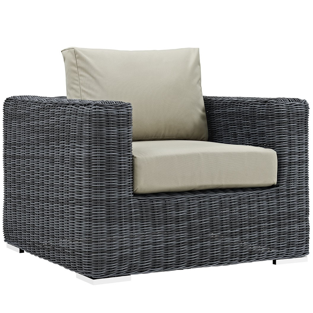 Summon Outdoor Patio Fabric Sunbrella Armchair