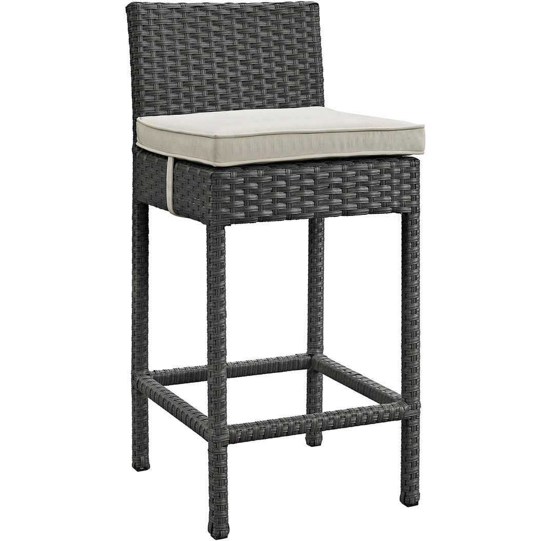 Sojourn Outdoor Patio Wicker Sunbrella Bar Stool