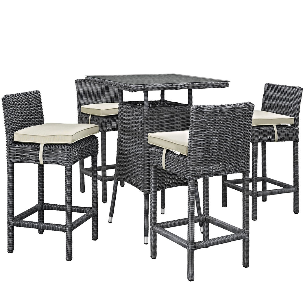 Summon 5 Piece Outdoor Patio Sunbrella