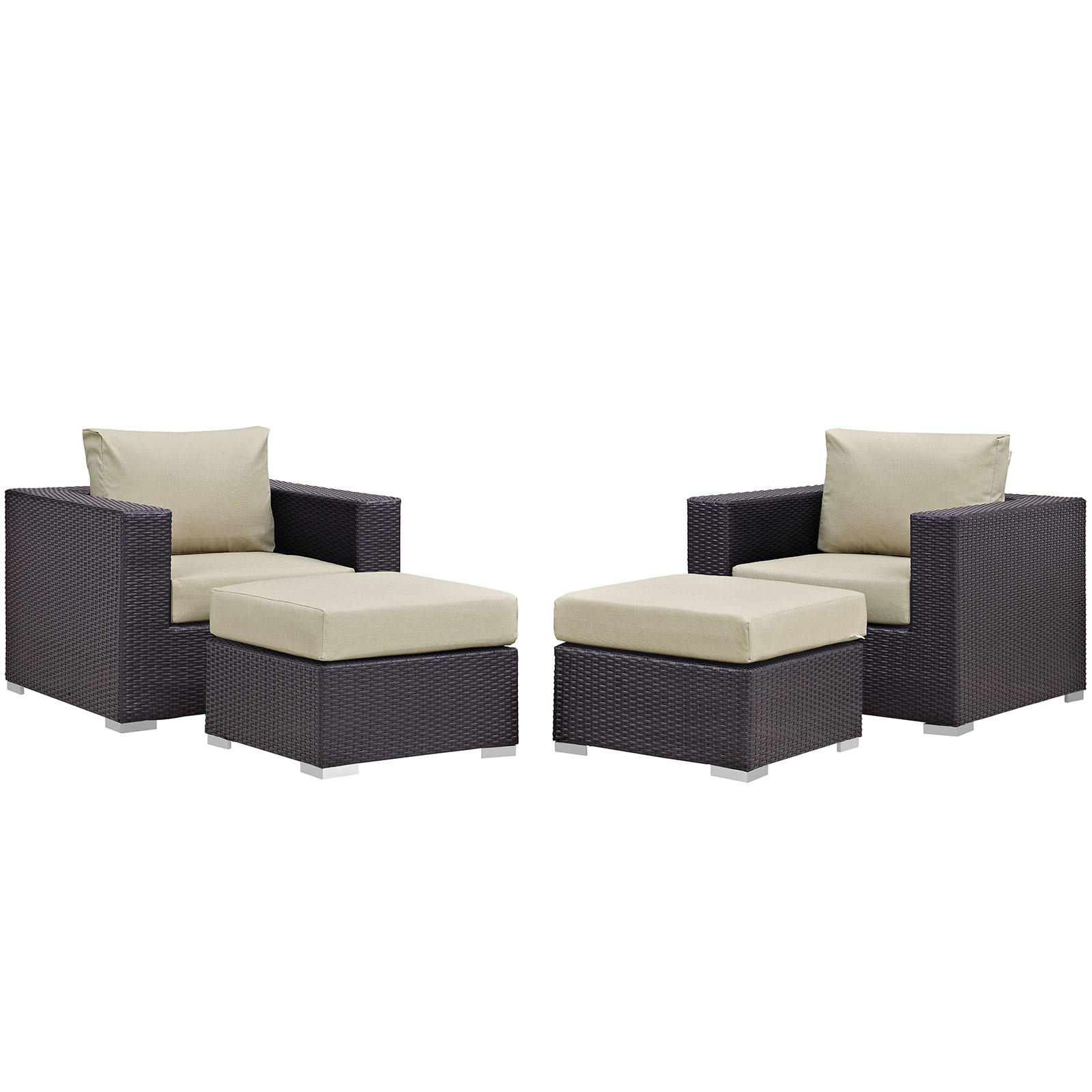 Convene 4 Piece Outdoor Patio Sectional Set