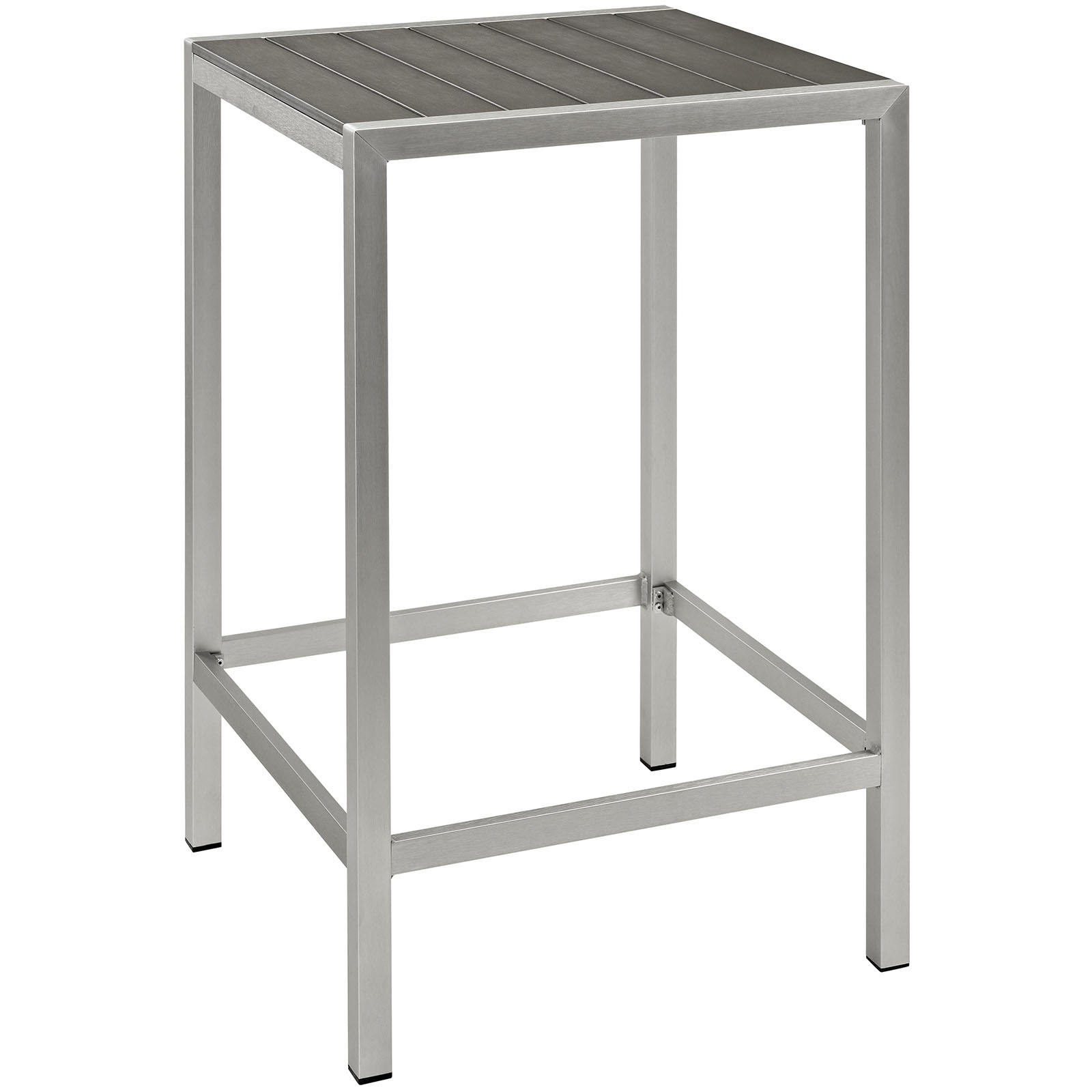 Shore Outdoor Patio Aluminum Bar Table