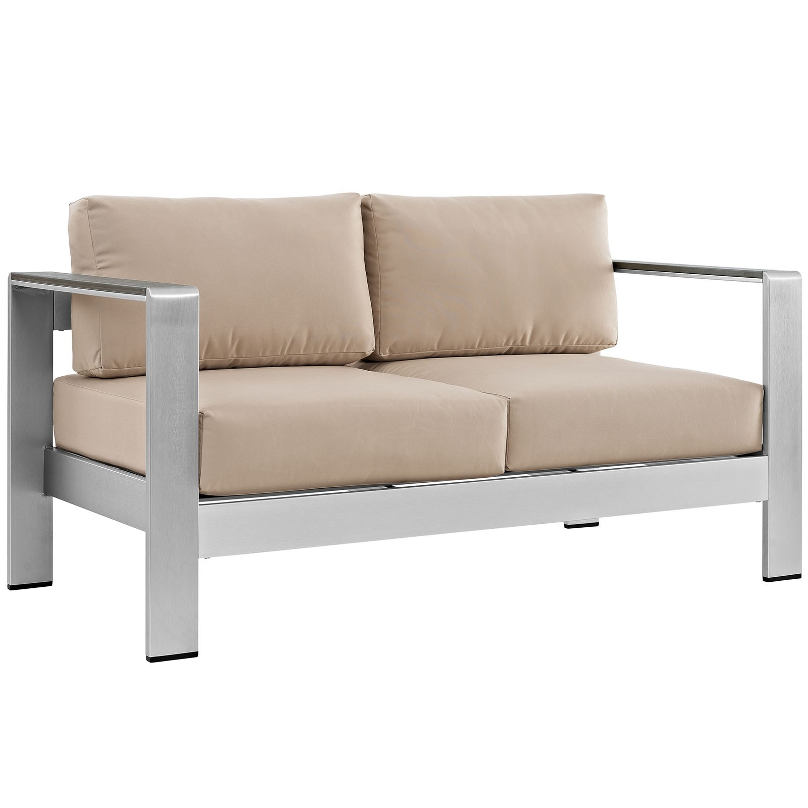 Shore Outdoor Patio Aluminum Loveseat