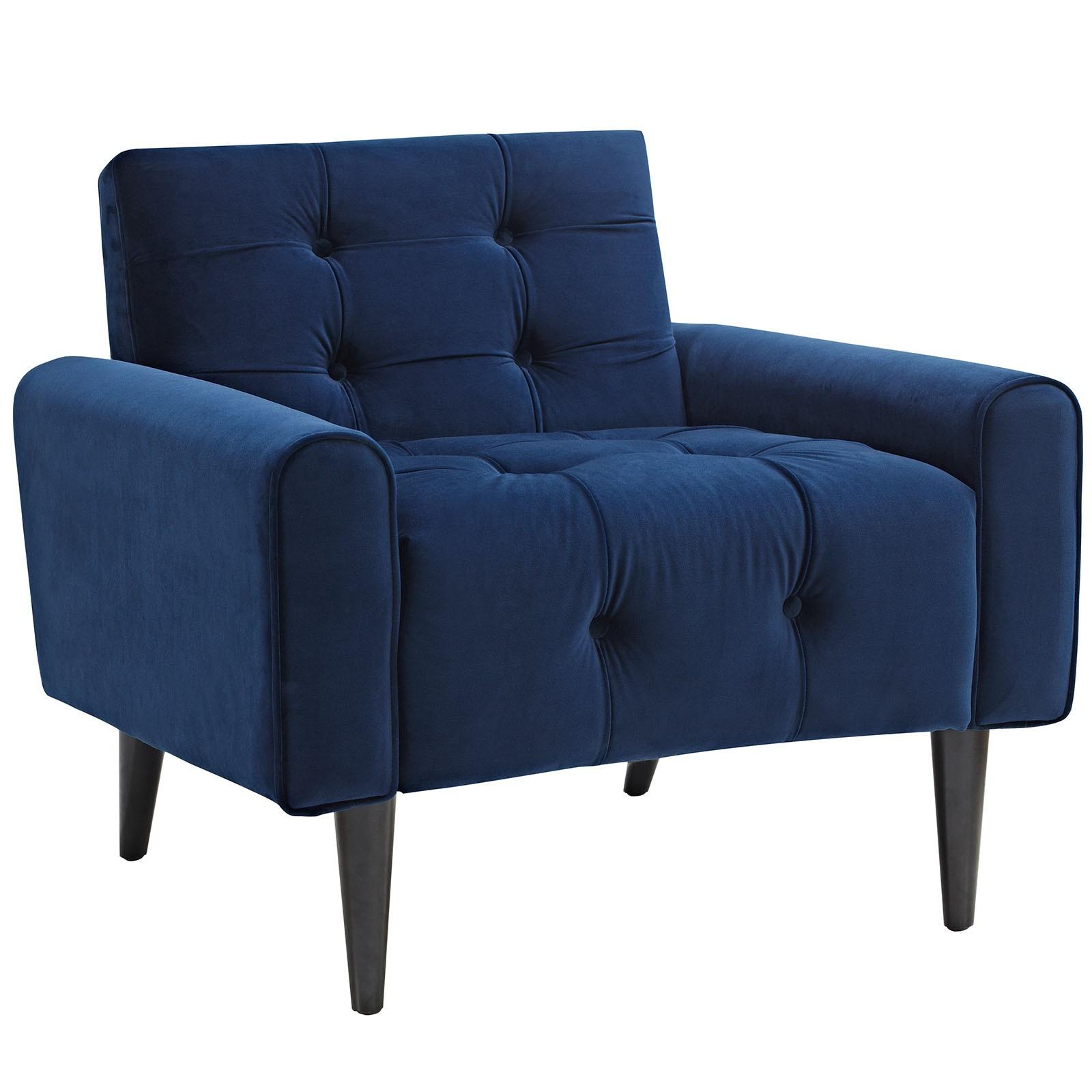 Delve Velvet Armchair