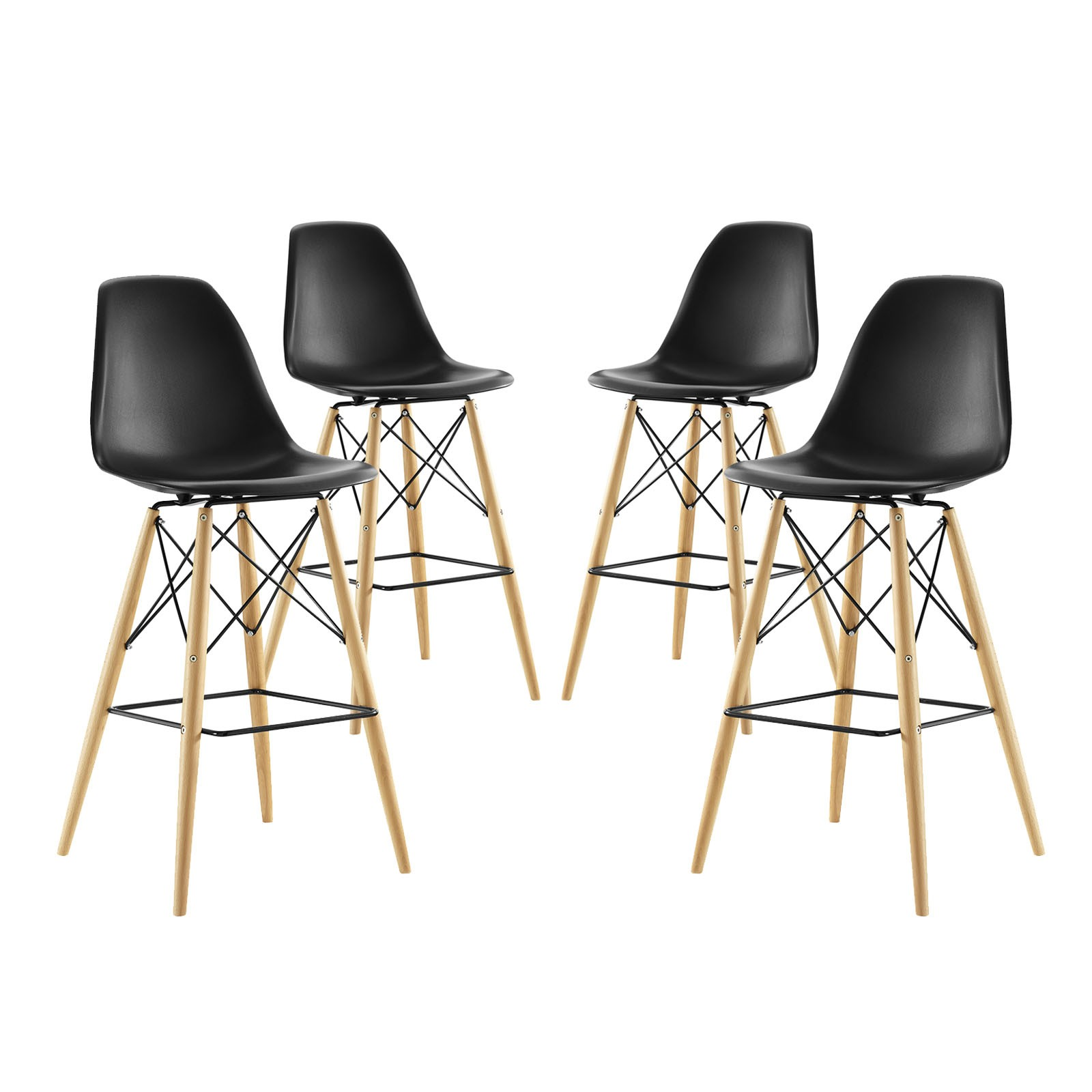 Pyramid Dining Side Bar Stool Set of 4