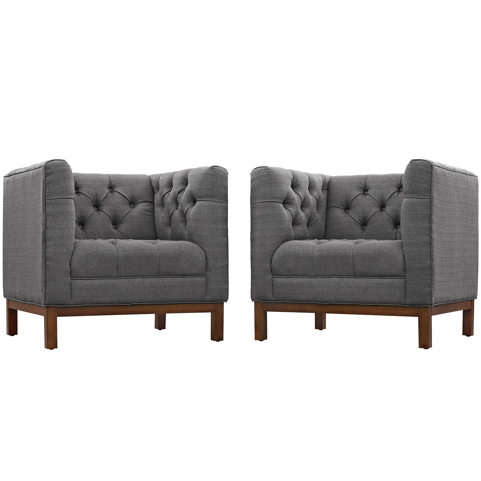 Panache Living Room Set Fabric Set of 2