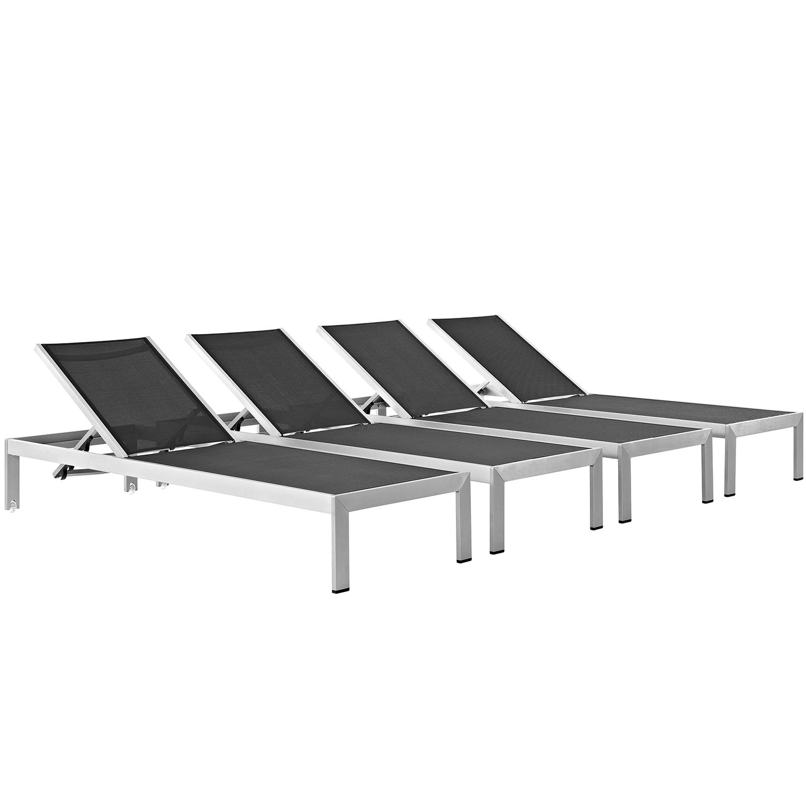 Shore Outdoor Patio Chaise Outdoor Patio Aluminum Set of 4