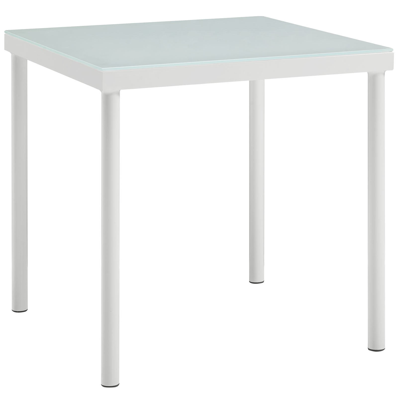 Harmony Outdoor Patio Aluminum Side Table in White