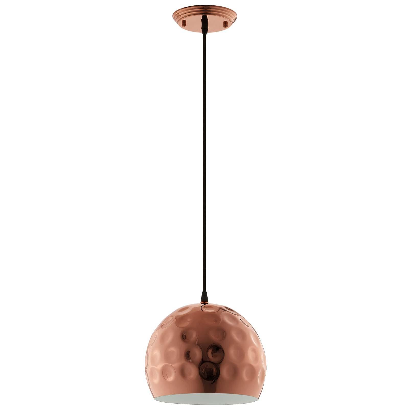 "Dimple 10"" Half-Sphere Rose Gold Pendant Light"