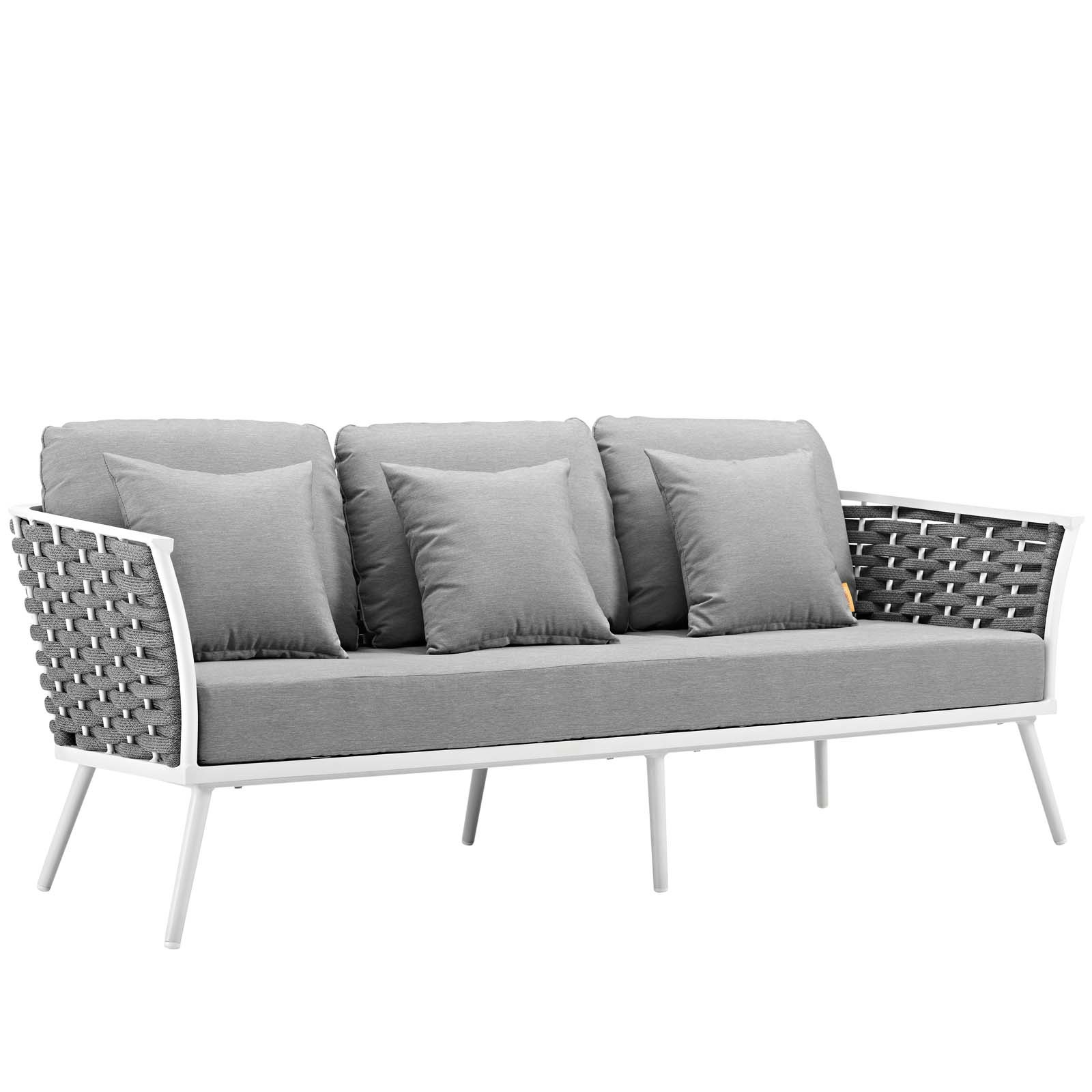 Stance Outdoor Patio Aluminum Sofa