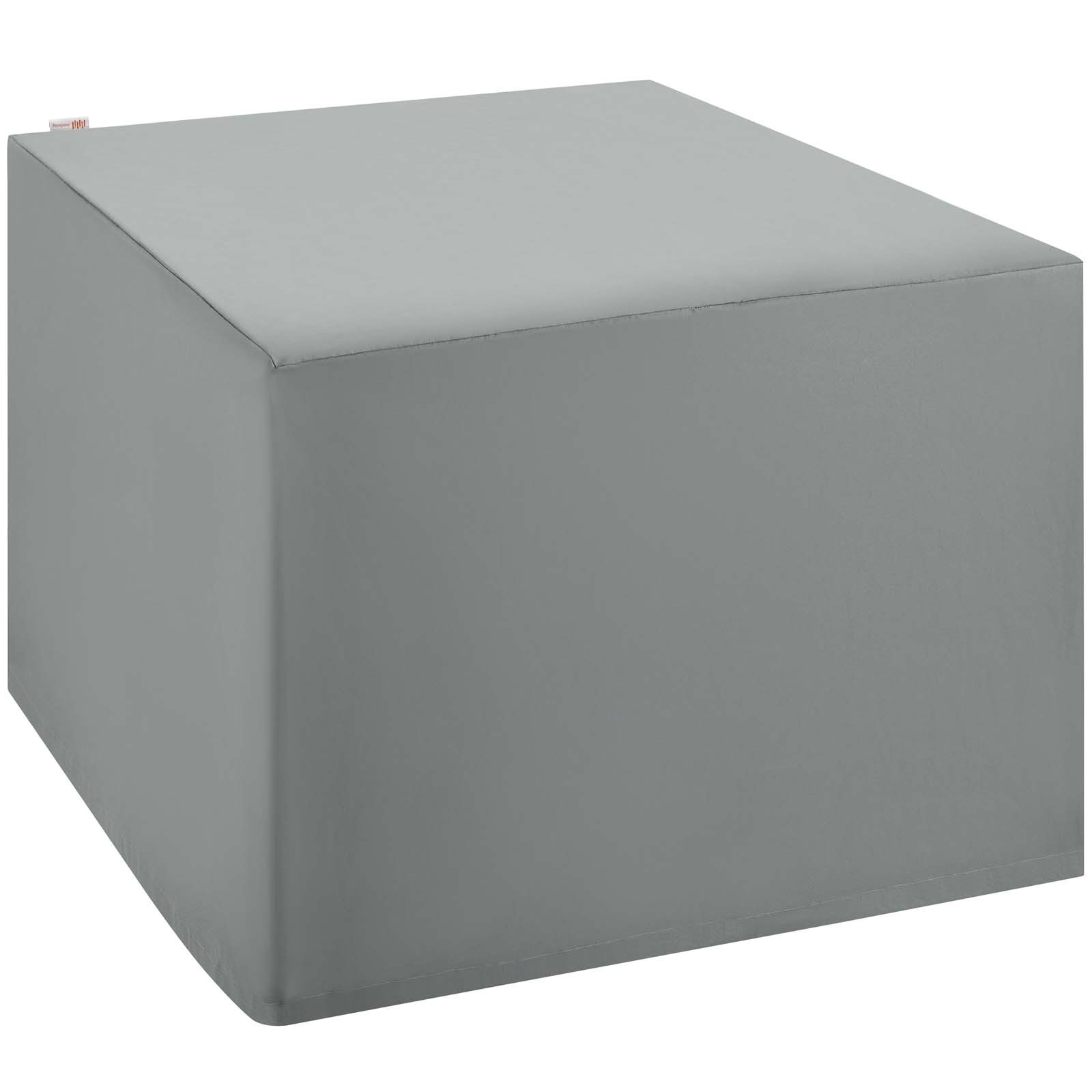 Immerse Convene/Sojourn/Summon Ottoman and Side Table Outdoor Patio Furniture Cover in Gray