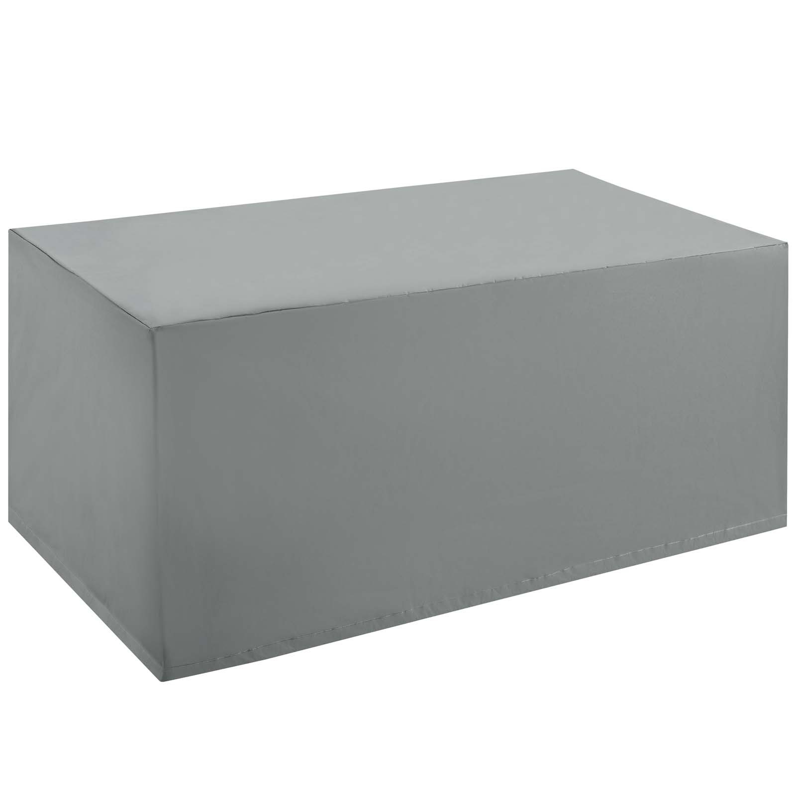 Immerse Convene/Sojourn/Summon Coffee Table Outdoor Patio Furniture Cover in Gray