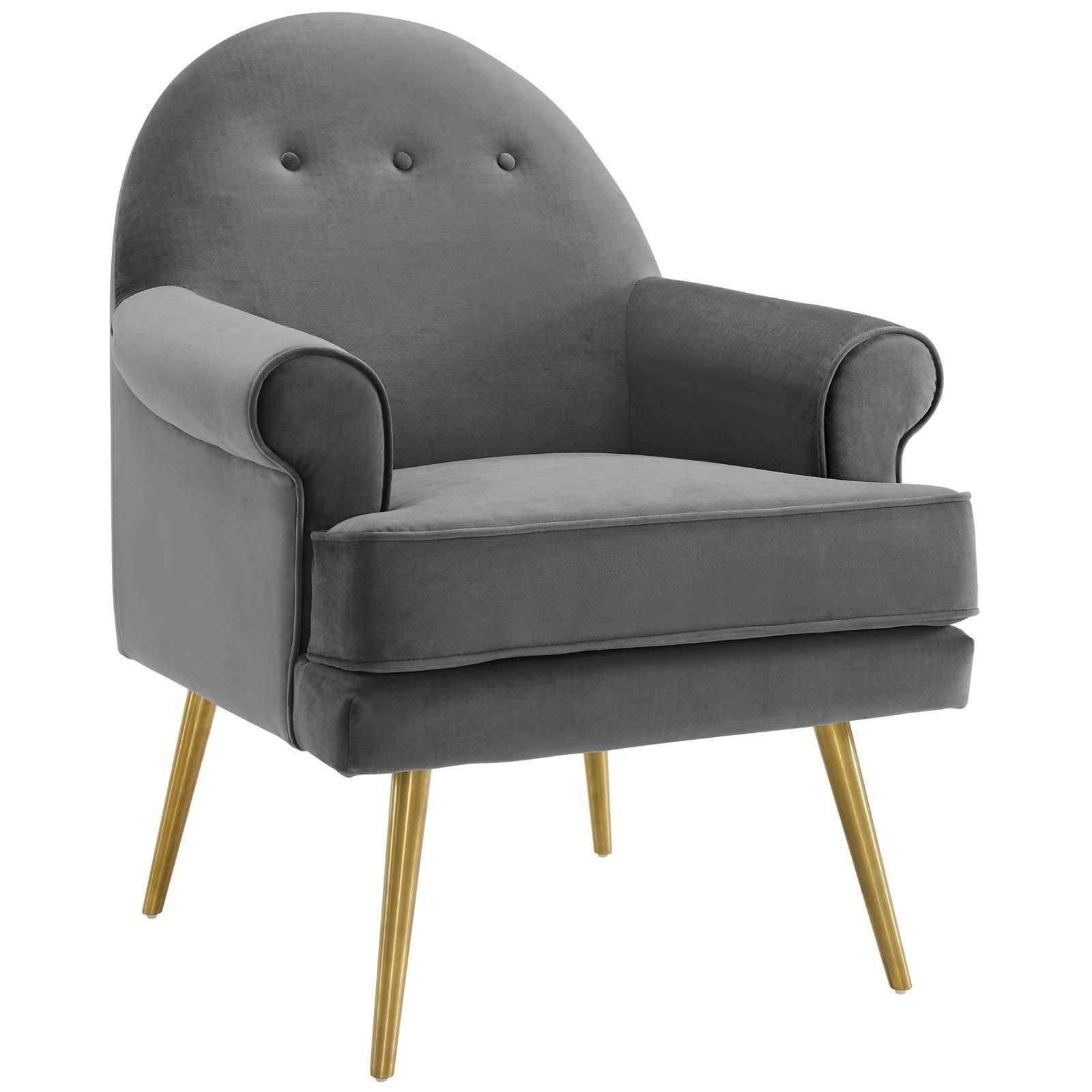 Revive Tufted Button Accent Performance Velvet Armchair