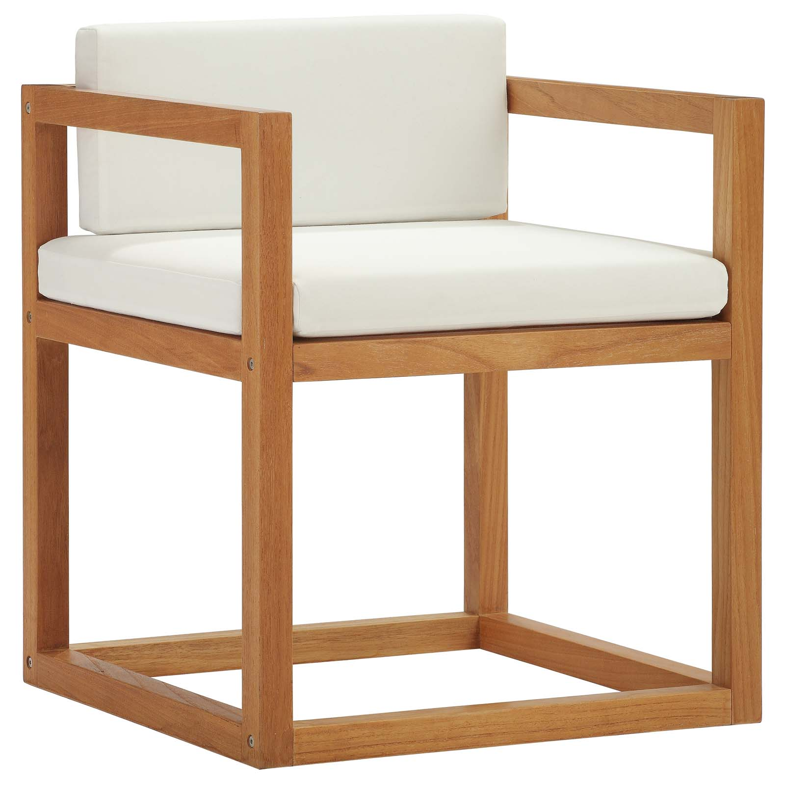 Newbury Accent Outdoor Patio Premium Grade A Teak Wood Armchair in Natural White