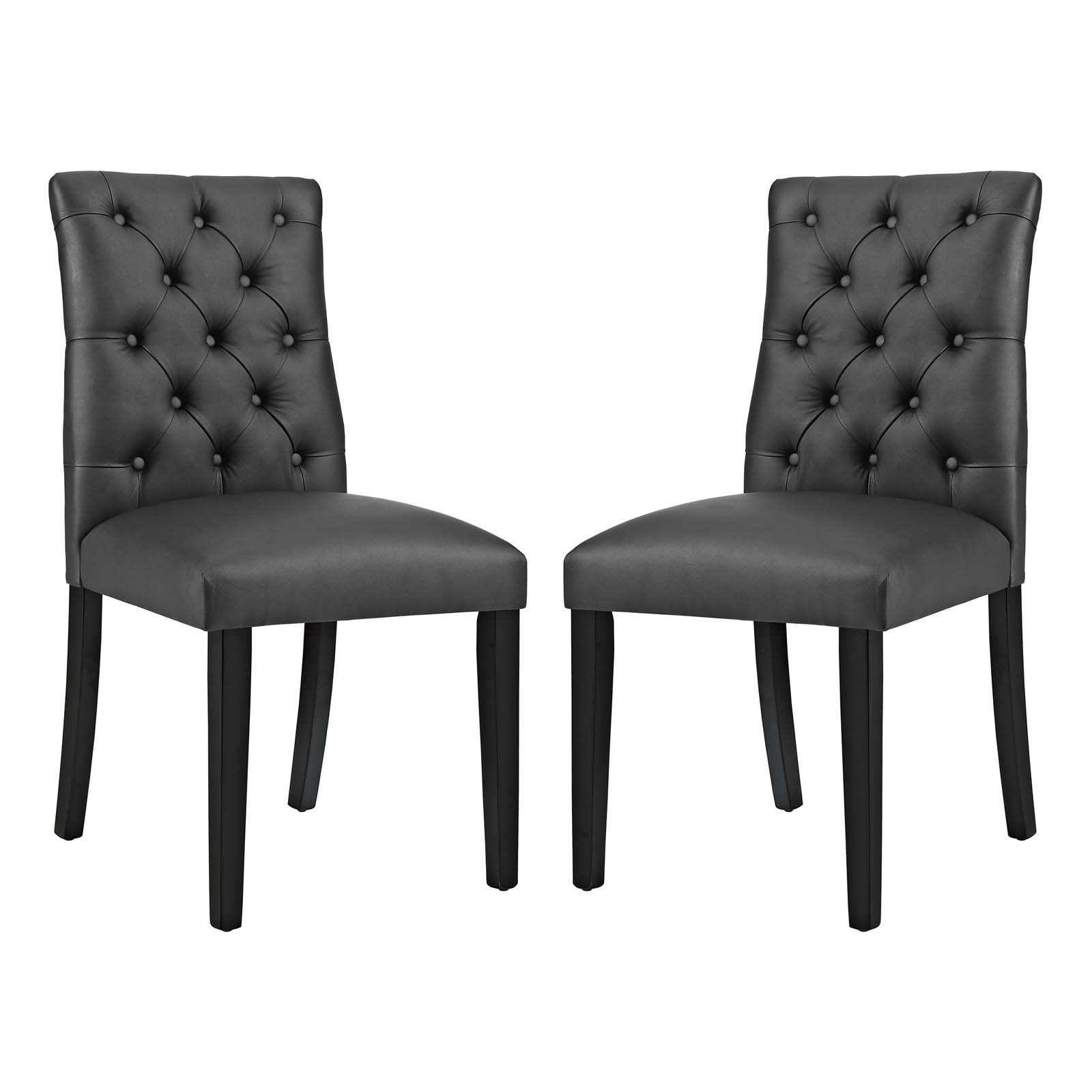 Duchess Dining Chair Vinyl Set of 2