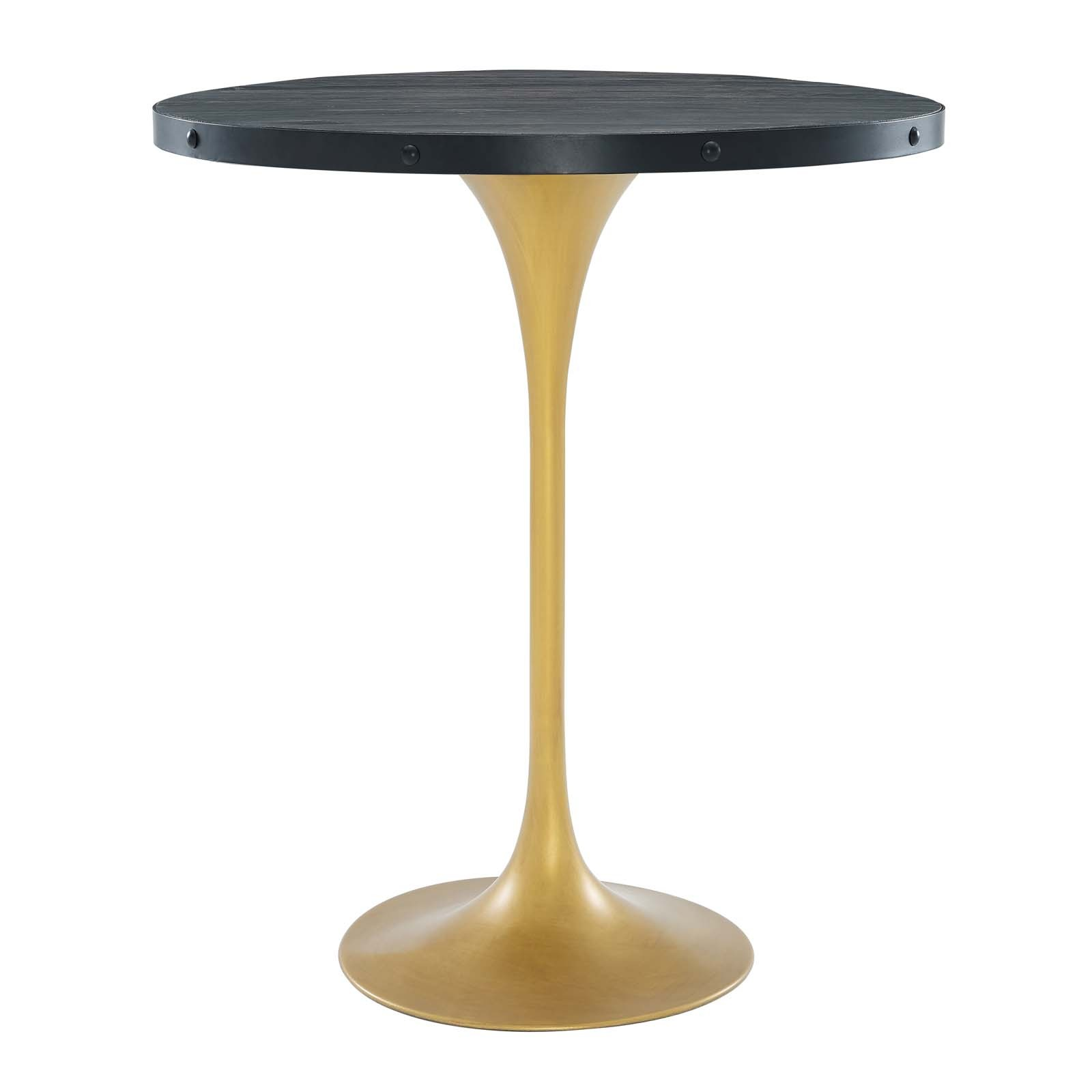 Drive Wood Bar Table in Black Gold
