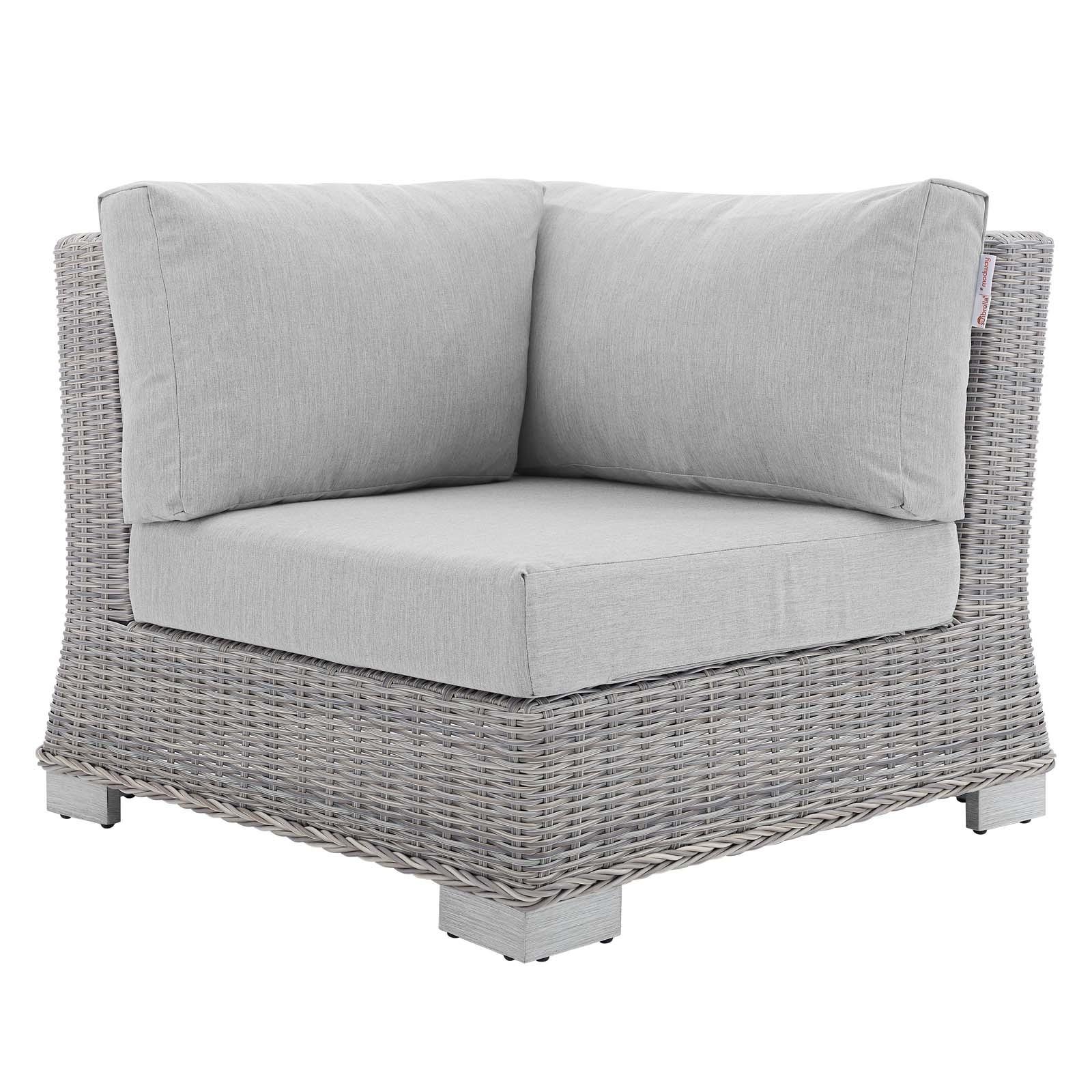 Conway Sunbrella® Outdoor Patio Wicker Rattan Corner Chair
