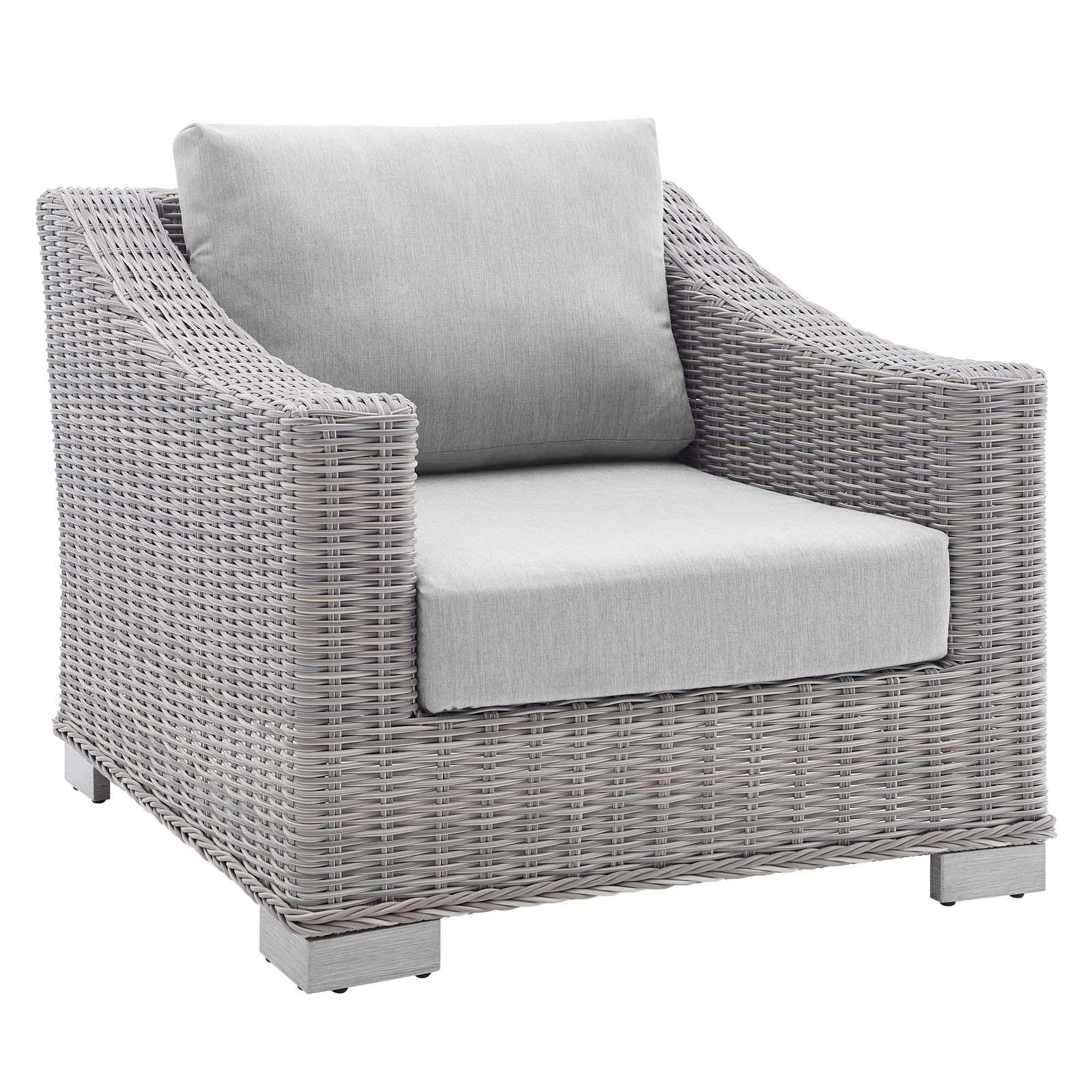 Conway Sunbrella® Outdoor Patio Wicker Rattan Armchair