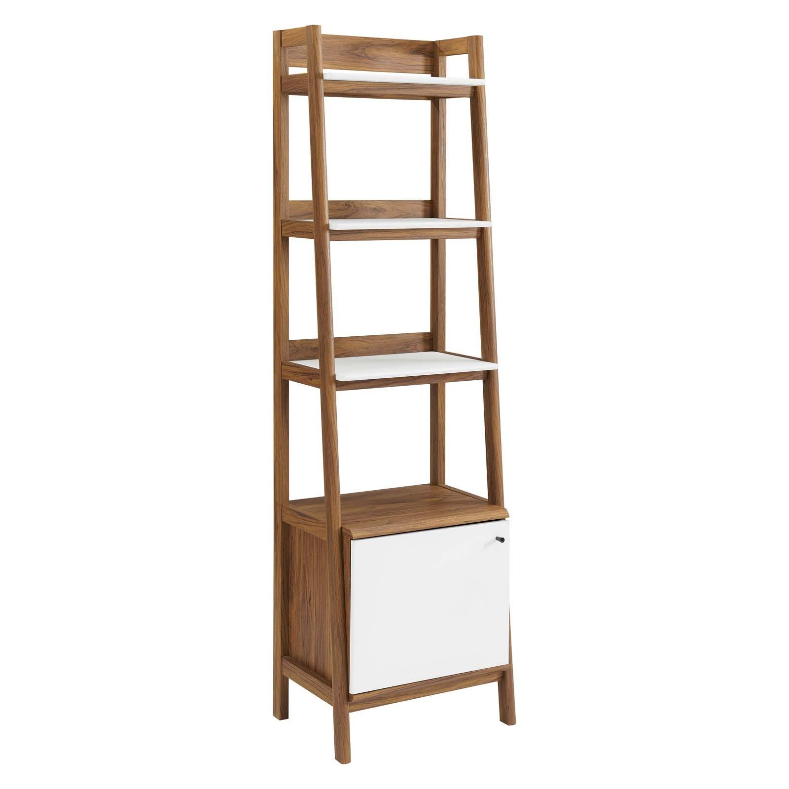 "Bixby 21"" Bookshelf in Walnut White"