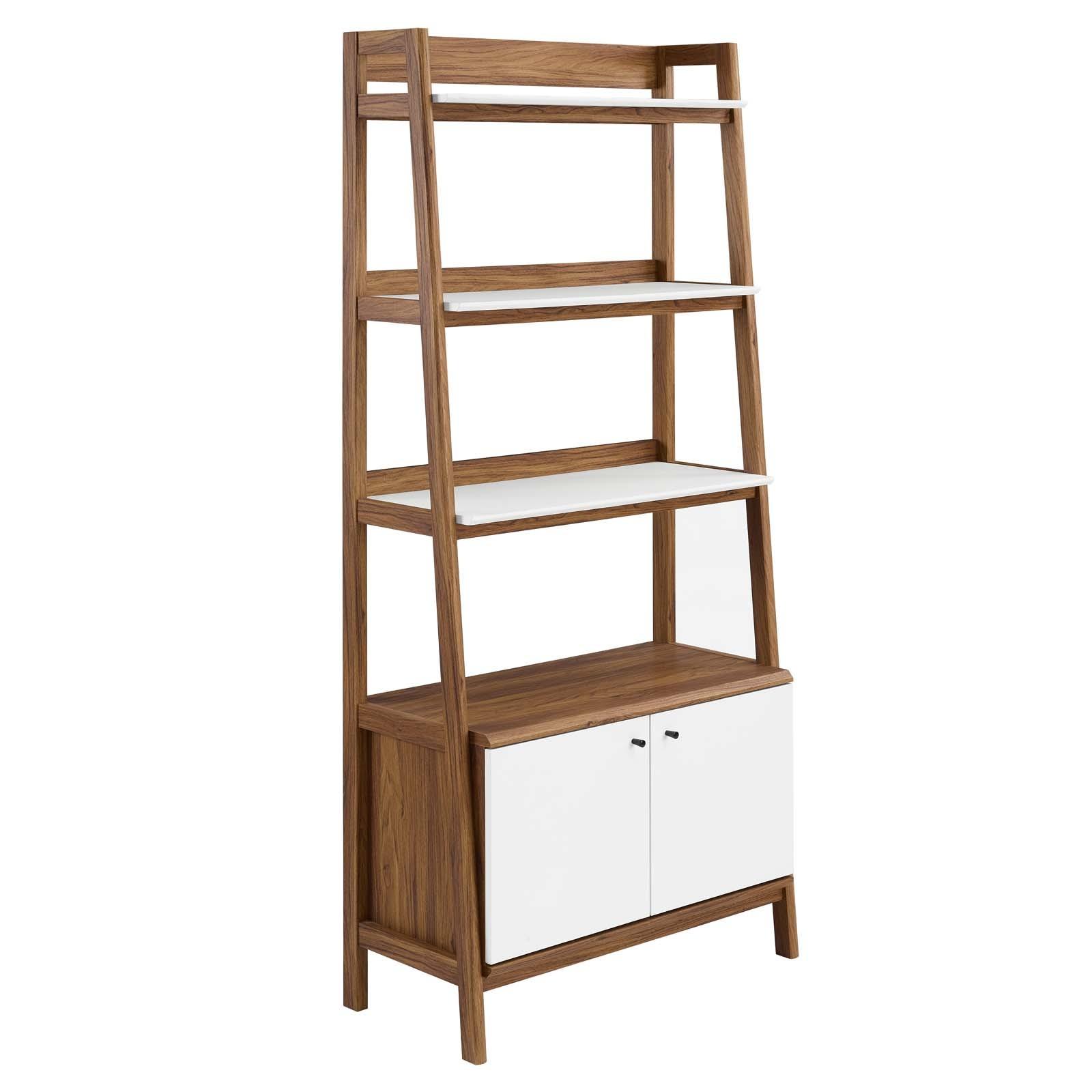 "Bixby 33"" Bookshelf in Walnut White"