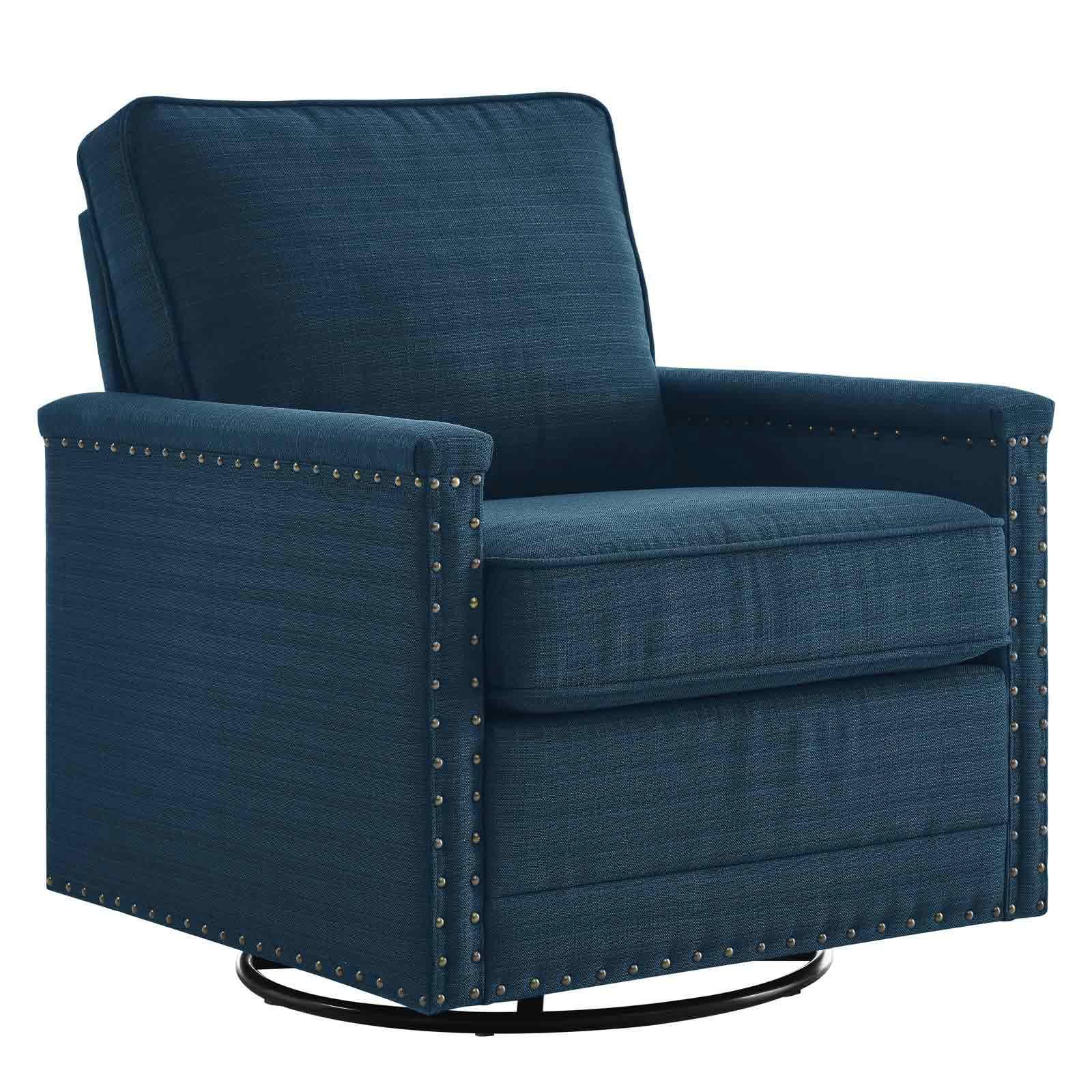 Ashton Upholstered Fabric Swivel Chair