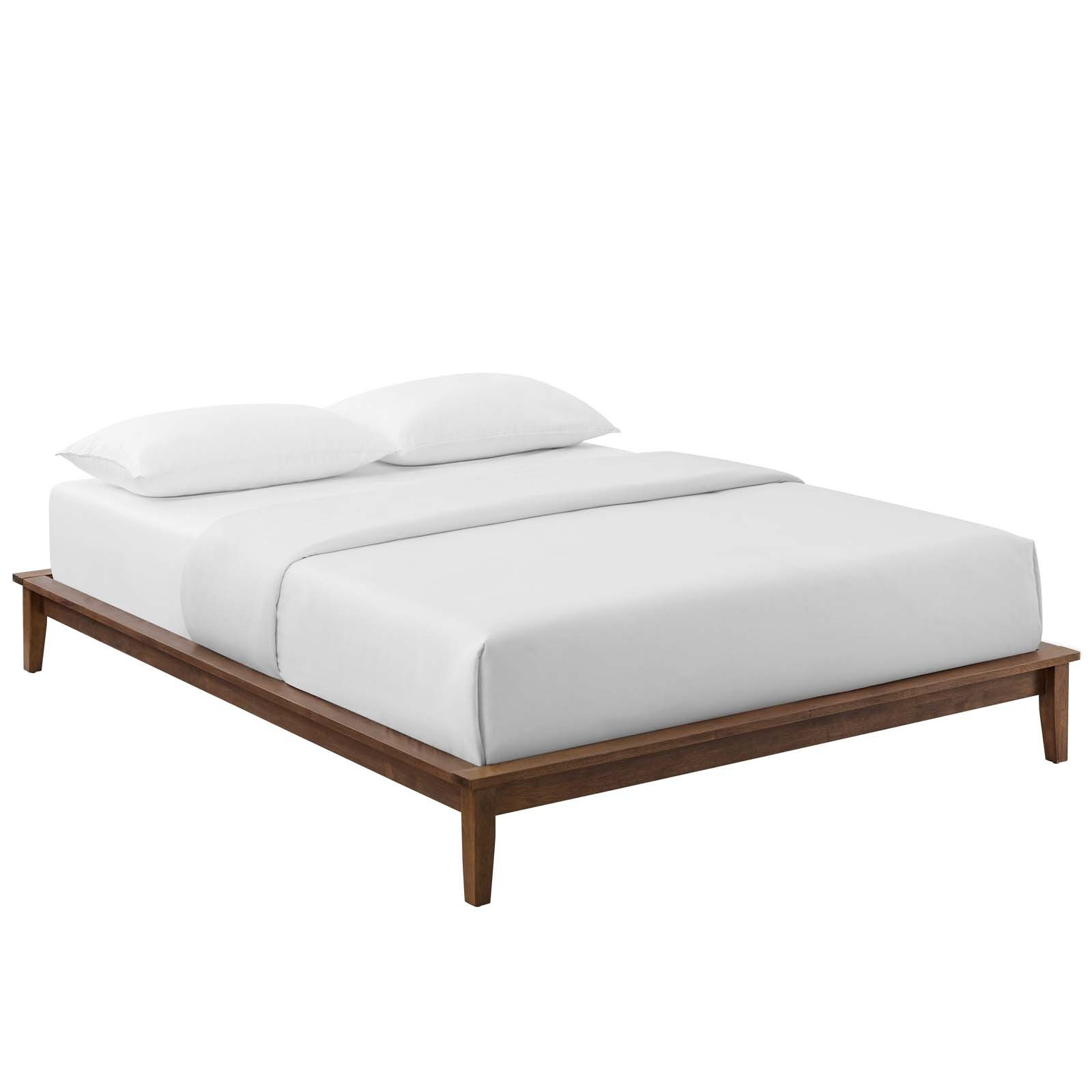 Lodge Queen Wood Platform Bed Frame