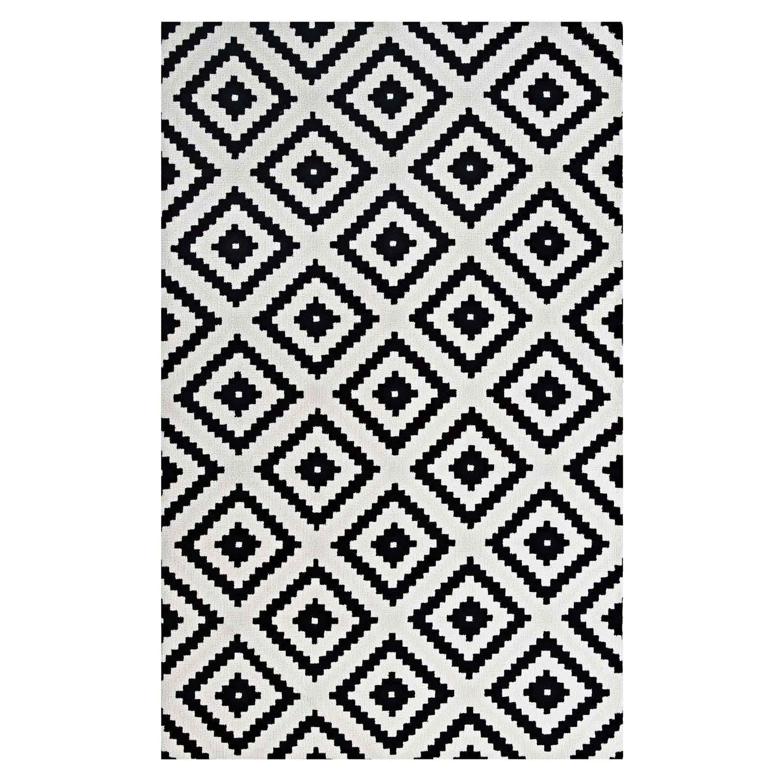 Alika Abstract Diamond Trellis 5x8 Area Rug