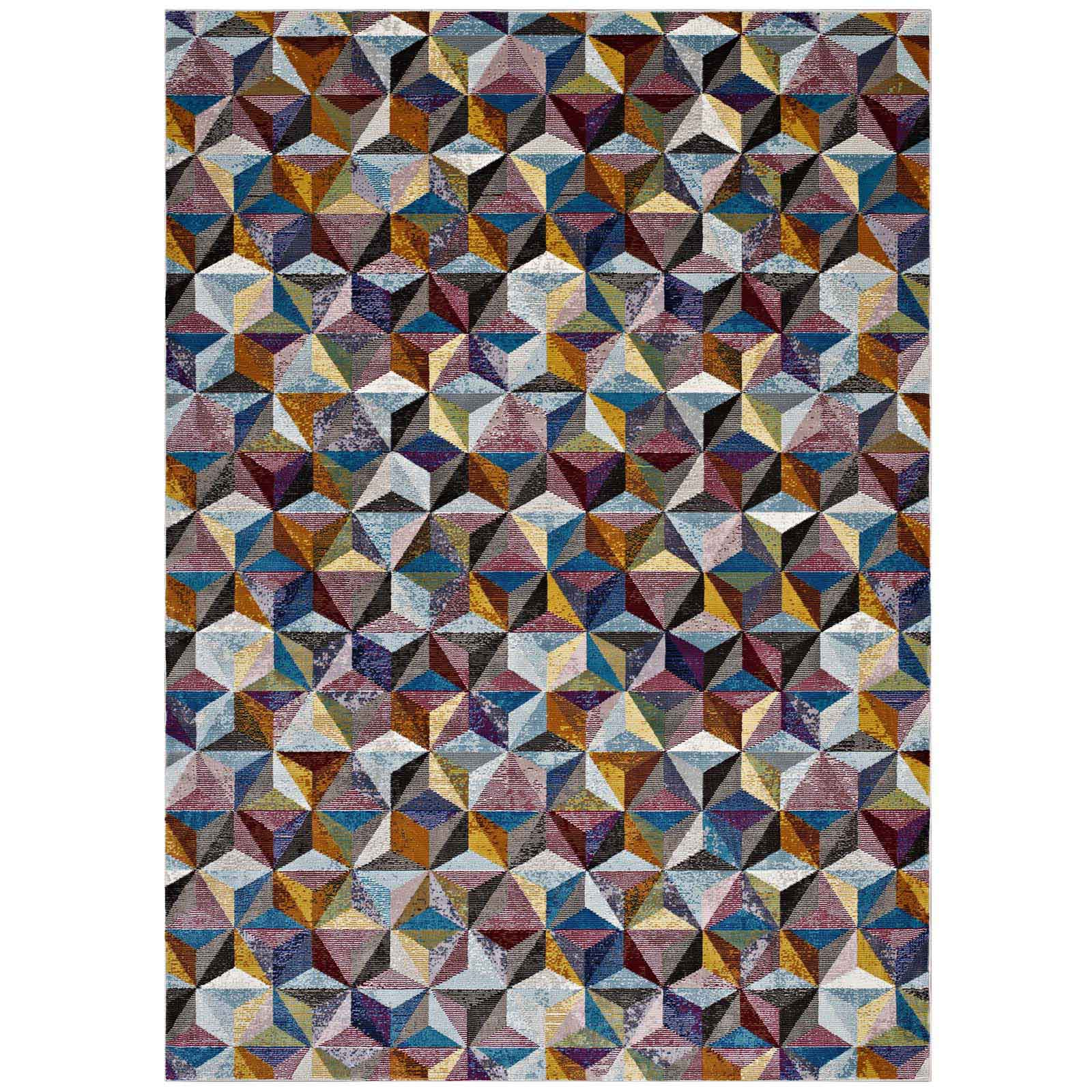 Arisa Geometric Hexagon Mosaic 5x8 Area Rug