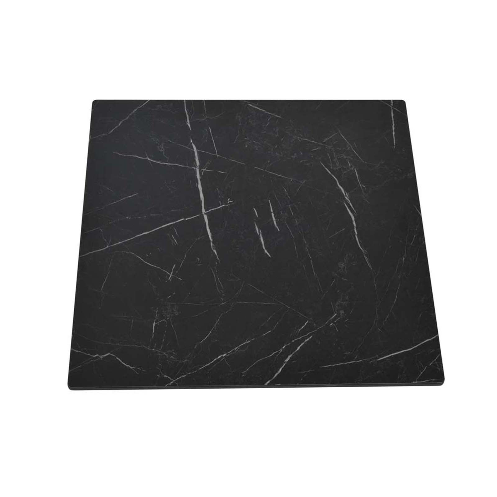 """27"""" HPL Compact Square Black Marble Table Top"""