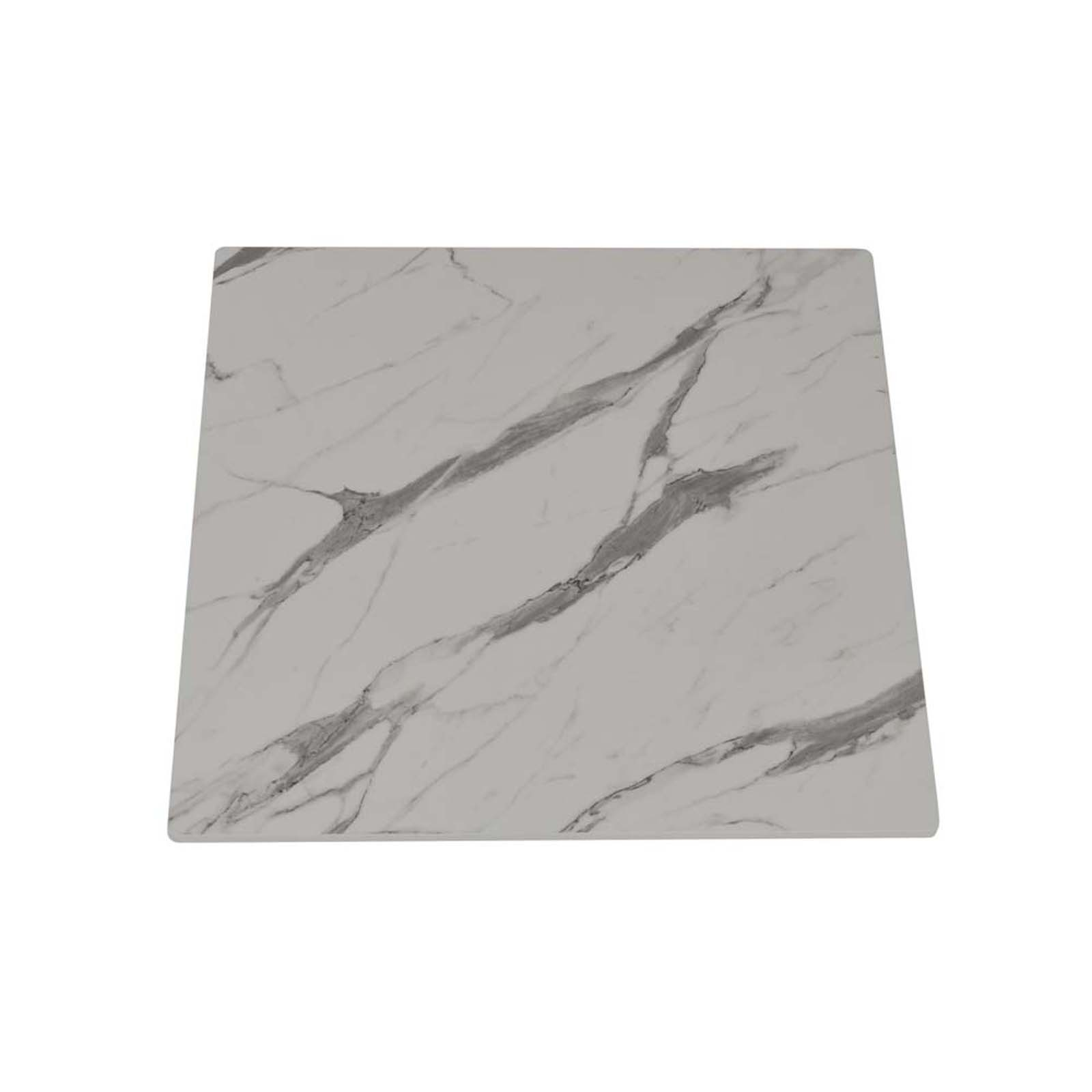 """23"""" HPL Compact SquareWhite Marble Table Top"""