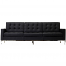 Florence Knoll Style Sofa Couch - Leather