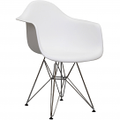 DAR Paris Molded Dining Wired Arm Chair