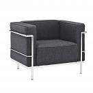 Le Corbusier Style Grande Arm Chair - Wool