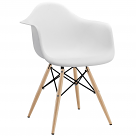 DAW Pyramid Dining Arm Chair Dowel Legs