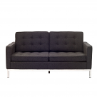 Florence Knoll Style Loveseat Couch - Wool