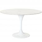 """Eero Saarinen Style Tulip Table - Marble 48"""""""