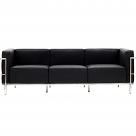 Le Corbusier Style Grande Three Seater Sofa - Leather