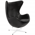 Arne Jacobson Style Egg Chair - Leather