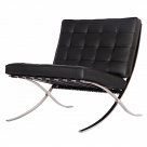 Barcelona Chair Replica Black