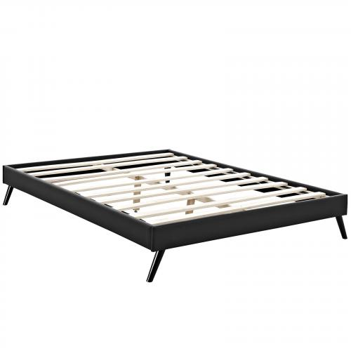 Helen King Vinyl Bed Frame with Round Splayed Legs