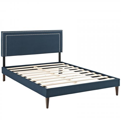 Jessamine Full Fabric Platform Bed with Squared Tapered Legs