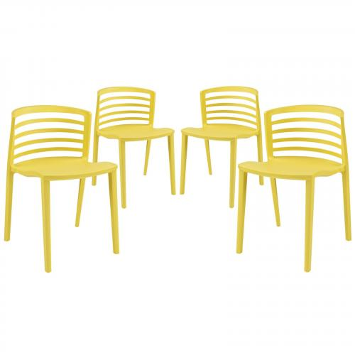 Curvy Dining Chairs Set of 4